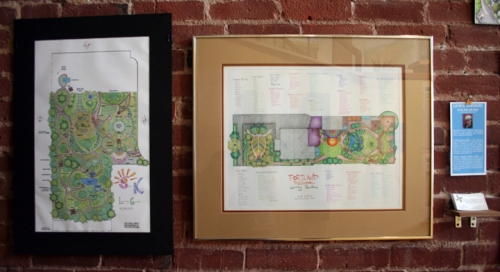 Gallery Display of Living Gardens' Designs